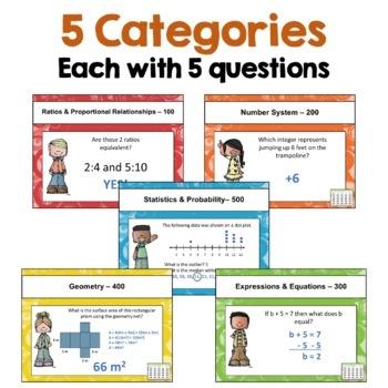 6th Grade Math Review Games
