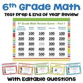 Math Test Prep 6th Grade Digital Review Games - Similar to