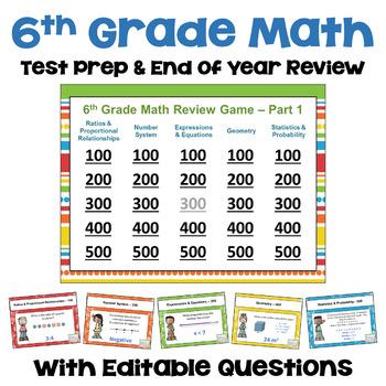 6th Grade Math Test Prep Games