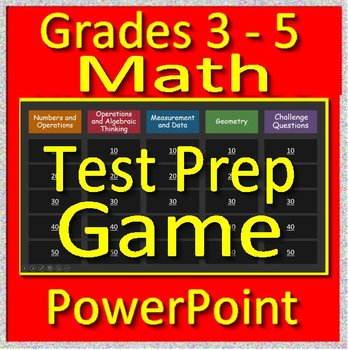 Math Test Prep Activities Grades 3 - 5  - Math Game for use in PowerPoint