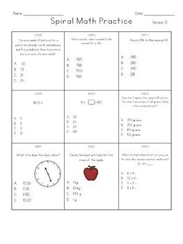 Common Core Math Test Prep Assessments - 3rd Grade