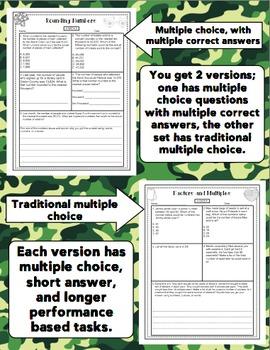 Math Test Prep (Boot Camp Theme) 4th Grade