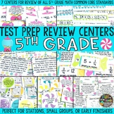 Math Test Prep Review Centers or Stations {Review of 5th Grade Math}