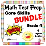 Math Test Prep DIGITAL Boom Learning™  BUNDLE $$$ NEW Gr 4 ... 80 Digital Cards