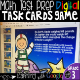 Math Test Prep Digital Task Cards Grade 3