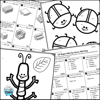 5th Grade Math Test Prep: Fifth Grade Math Review Coloring Activities