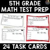 Math Test Prep 5th Grade Task Cards