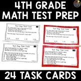 Math Test Prep 4th Grade Task Cards
