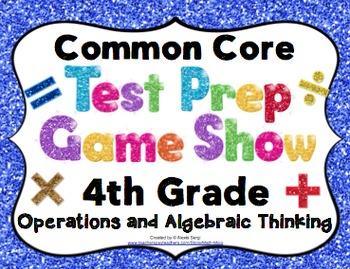 Math Test Prep Game Show 4th Grade Common Core:Operations
