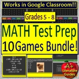 Test Prep Math Game Show Collection -  10 PowerPoint for Middle School