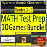 10 Test Prep Math Games - Jeopardy Style Spiral Review End of Year Games Bundle
