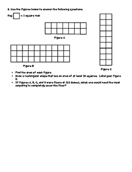 Math Test Prep Grade 3 #7 Extended Constructed Responses