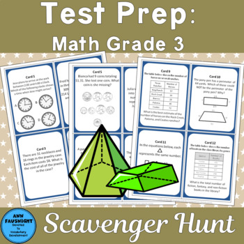 Math Test Prep Grade 3 Scavenger Hunt