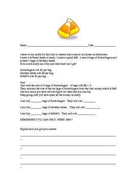 Math Test Prep - Halloween Theme