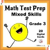 Math Test Prep ... Mixed CORE Skills ... Grade 3  Digital Paperless Cards