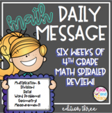 Math Warm Up Spiraled Review: Edition 3