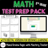 Math Test Prep Pack {5th Grade} - with Google Forms option