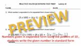 Math Test Prep Questions Worksheets (Read Description Below)