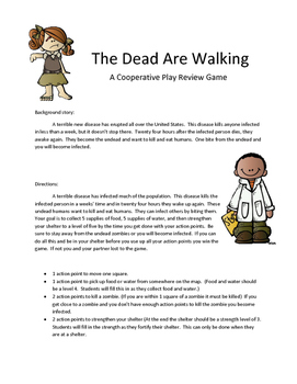 Math Test Prep Review Game: The Dead are Walking 3rd Grade