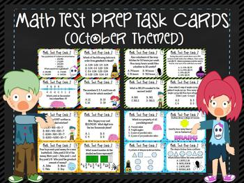 Math Review Test Prep Review Task Cards: Multiple Choice {