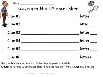 Math Test Prep Scavenger Hunt Activity