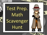 Math Test Prep Scavenger Hunt Activity