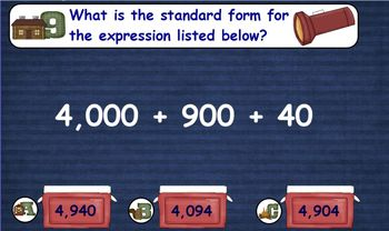 Math Test Prep - Station 1: Place Value - Promethean with Activotes
