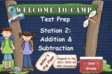 Math Test Prep - Station 2: Add & Subtract - Multiple Choice Practice