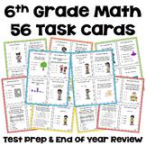 Math Test Prep - 6th Grade Math Task Cards