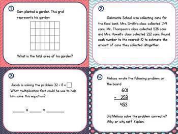 Math Test Prep Task Cards- 3rd Grade {Georgia Milestones}