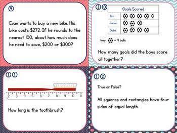 Math Test Prep Task Cards