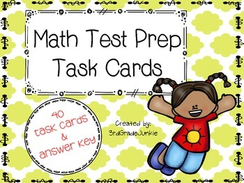 End of the Year 3rd Grade Math Task Cards - Math Review - 40 TASK CARDS