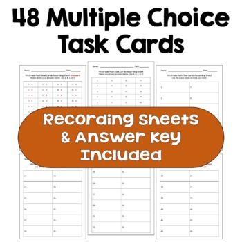 End of Year Review - 4th Grade Math Task Cards
