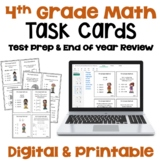 4th Grade Math Task Cards for Review and Test Prep
