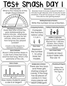 Math Test Prep: Test Smash Multi-Grade Bundle (3rd-5th Grade)