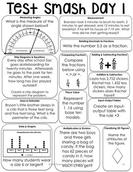 Test Prep Multi-Grade (3-5) Math Review Bundle