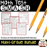 Distance Learning Printables Test Prep Multi-Grade (3-5) Math Review Bundle
