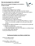 Math Test Prep Tips FREEBIE