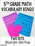 Math Test Prep (Vocabulary Bingo)