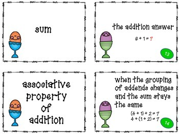 Math Test Prep Vocabulary Game
