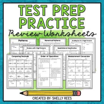 Math Test Prep Worksheets