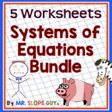"Math Test Prep Worksheets Algebra 1 ""Survivor's Guide"" Bundle 3"