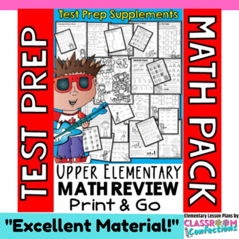 Math Test Prep or Any Time for 4th Grade Math Review