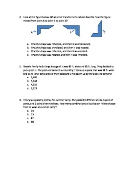 Math Test Review Game- Clue Mystery Theme 4th
