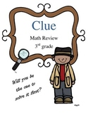 Math Test Review Game: Clue Mystery Theme 3rd grade