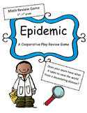 Math Test Review Game: Epidemic 5th/ 6th grade (Cooperative Play Game)