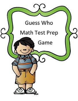 Math Test Review Game: Guess Who Theme 4th/5th