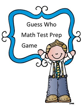Math Test Review Game: Guess Who Theme 3rd Grade