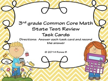 Math Test Review for 3rd grade