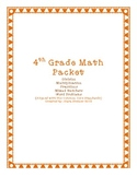 Math Test ReviewPacket: Division, Multiplication, Mixed Numbers, Math Review